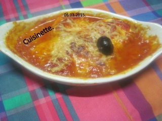 œufs durs en sauce tomates. gratiné.photos. Img_6271