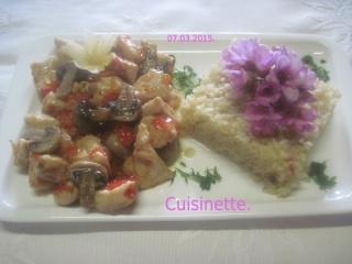 Cubes de poulet aux poivron.champignons.photos. Img_6310