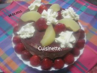 Vacherin aux poires et fraises.Chantilly.photos. Img_6314