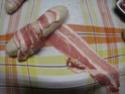 Boudin blanc bardés au poitrine fumés.+ photos. Img_0664