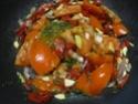 Aiguillettes de dinde.champignons noirs en sauce. Img_0824