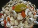 Cubes de poulet aux poivron.champignons.photos. Img_0945