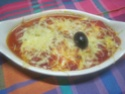 œufs durs en sauce tomates. gratiné.photos. Img_6270