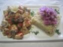 Cubes de poulet aux poivron.champignons.photos. Img_6311