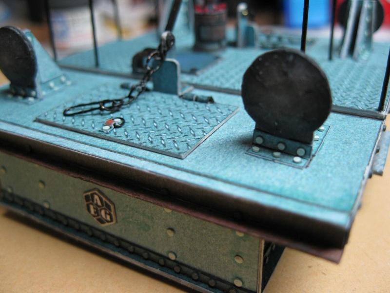 AEG-Akku-Schlepper von 1930 und Flachwagen, scaliert auf 1:32 63_her10
