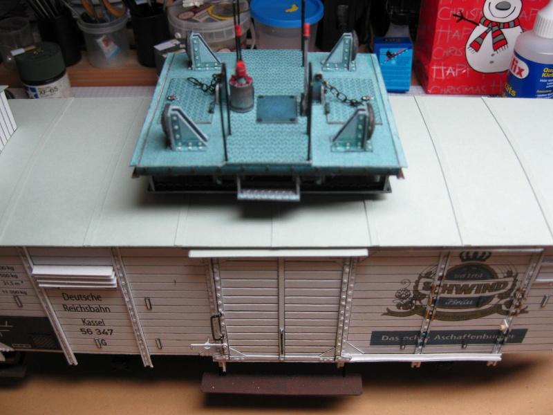 AEG-Akku-Schlepper von 1930 und Flachwagen, scaliert auf 1:32 72_fas10