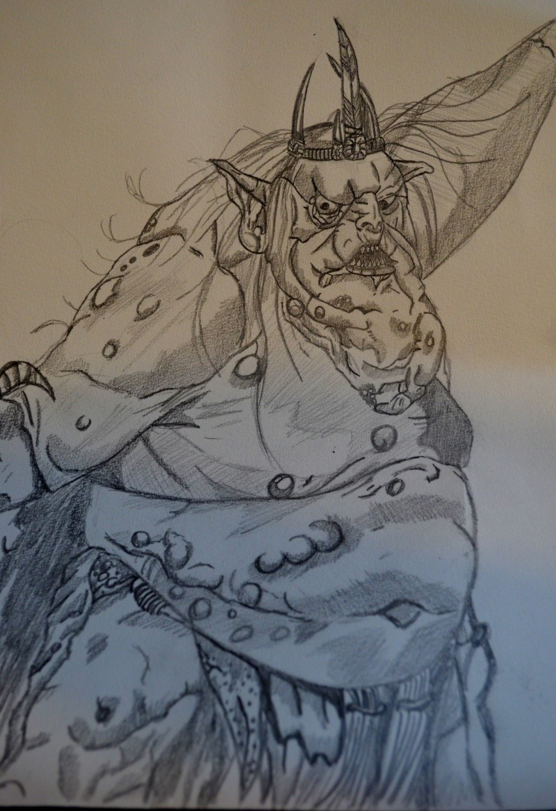 mon seul dessin de the hobbit . C_data45