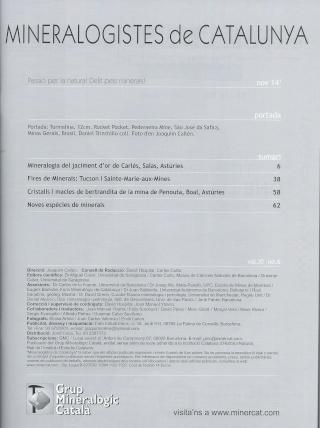 Revista Mineralogistes de Catalunya 2014/2 Minera12