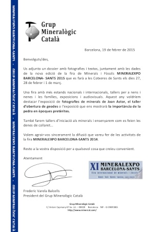 XI MINERALEXPO BARCELONA-SANTS 2015 Minera13
