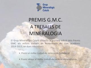 Premis GMC a treballs de mineralogia Poeste10