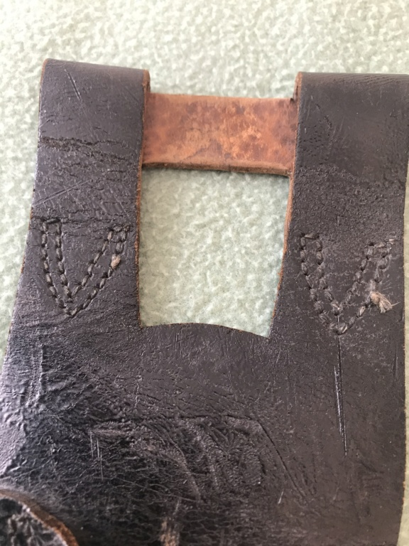 Gousset cuir noir Baionnette lebel 5a507410