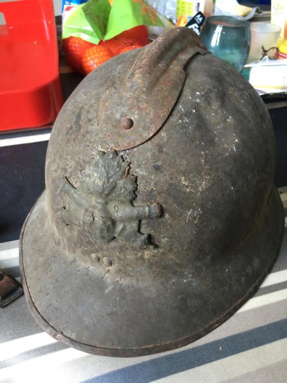 Achats du net : jolies douilles de poilu et un casque Adrian 26 (demande conseil D01f6910