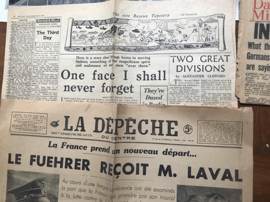 Des papiers indo et ww2 : photo oflag, carte Colmar et indo, journaux DDay. Ef934d10