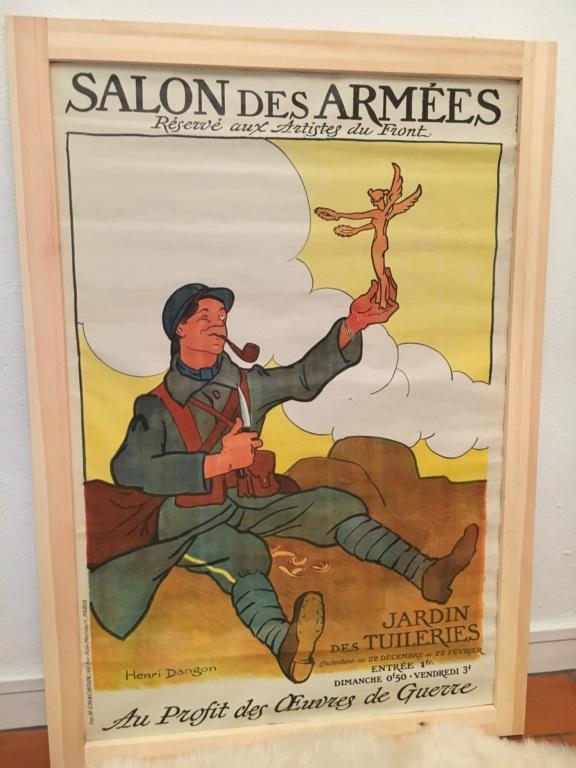 Jerrican anglais 1942 sable + affiche art des poilus 1916 Image10