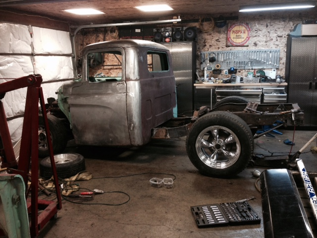 60 Dodge pickup Build Wheels11
