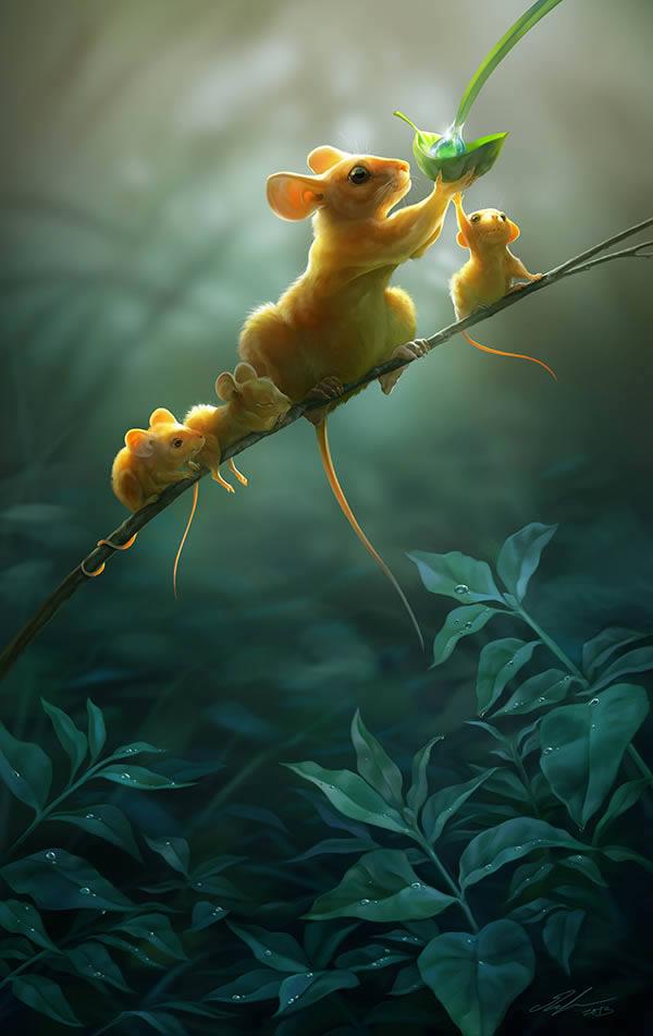 在Photoshop创建一个温暖人心的野生动物插图 Create a Heart-Warming Wildlife Illustration in Photoshop 0872_m10