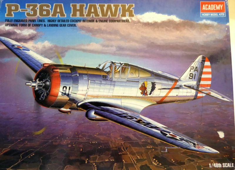 ACADEMY  CURTISS P-36A HAWK 1/48  montage pas à pas  01_boi12