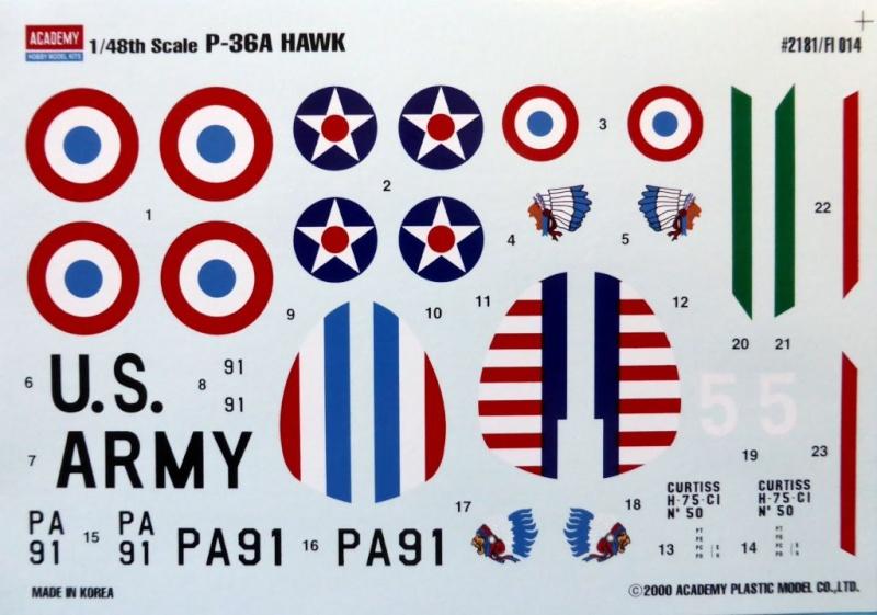 ACADEMY  CURTISS P-36A HAWK 1/48  montage pas à pas  06_dyc10
