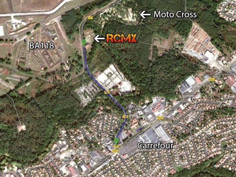 Localisation de la piste.  1024y111