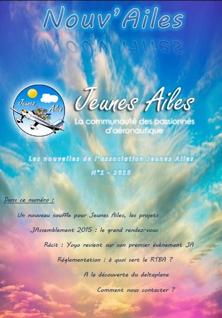 Nouv'Ailes 2015-1 - Les nouvelles des JA ! Couver10