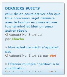 """(1386) Problème d'affichage du widget """"derniers sujets"""" sous chrome et opéra . Ff10"""