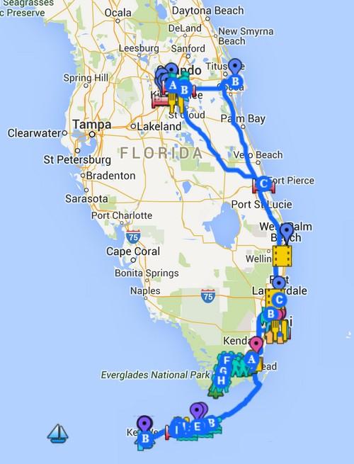 Florida Road Trip Report > 16 février - 5 mars 2015 [WDW en solo, KSC, Everglades, Keys, Dry Tortugas, Miami, USO] Plan10