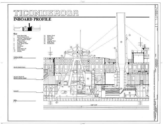 machinerie pour bateau à roues à aubes 00003r10