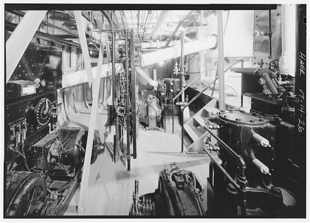 machinerie pour bateau à roues à aubes 05012110