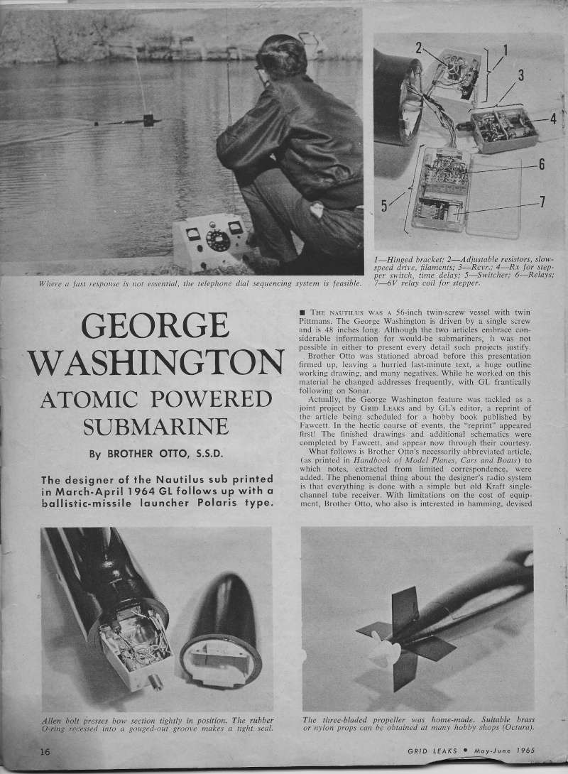 George Washington Article/plan Gl210