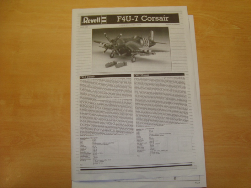 F4U-7 CORSAIR 1/48°  Enfin terminé!!! Dsc01416