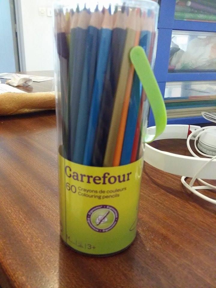 Découverte de crayon de couleur marque Carrefour ... 11022910