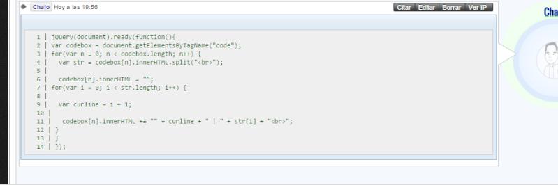 [Javascript] Enumera tus codigos Screen16