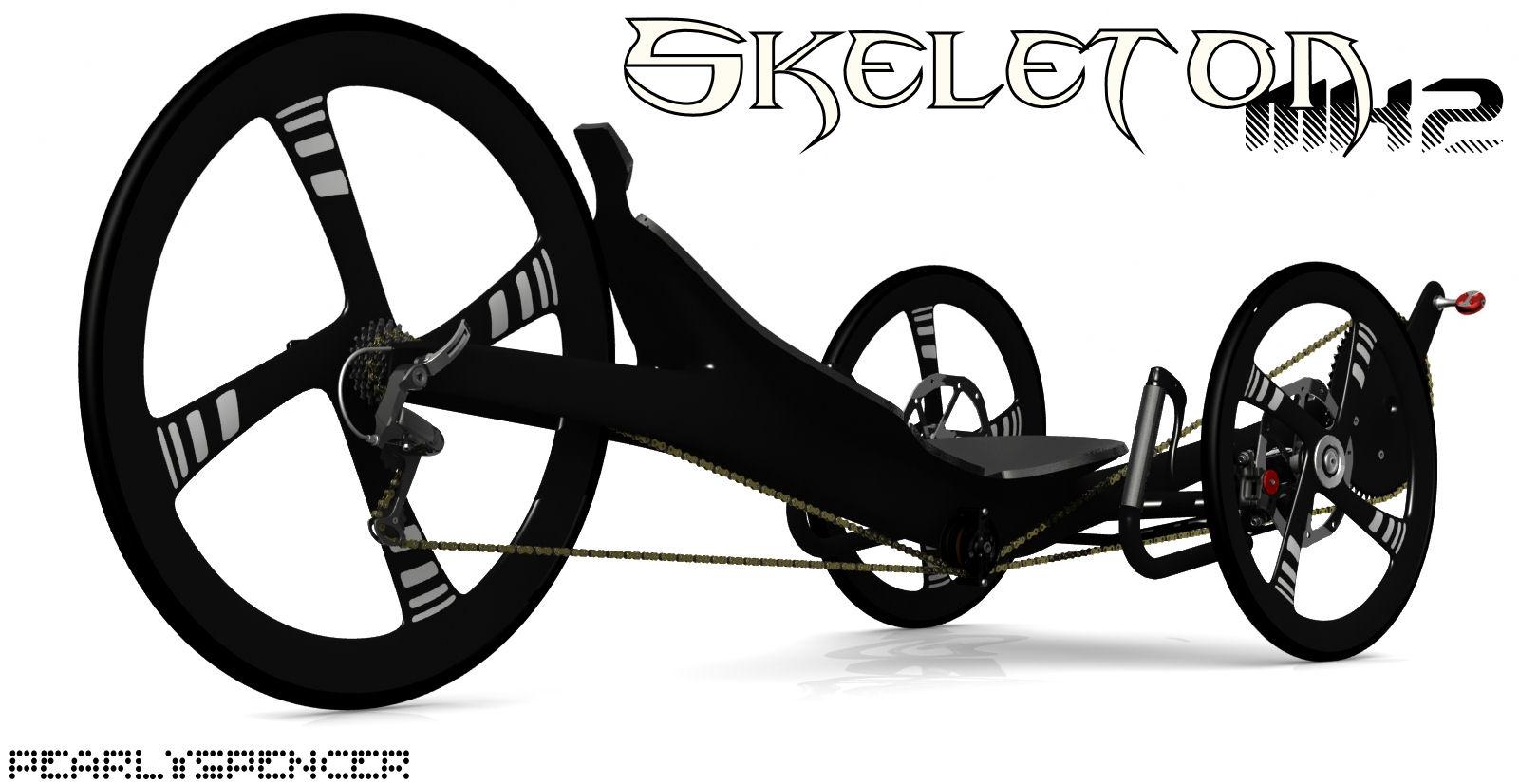Carbon trike par Bacchetta - Page 2 Skelet16