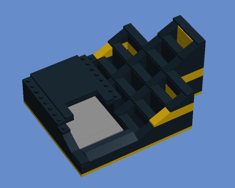 [LEGO] Schablonenhalter aus Legosteinen Lego10