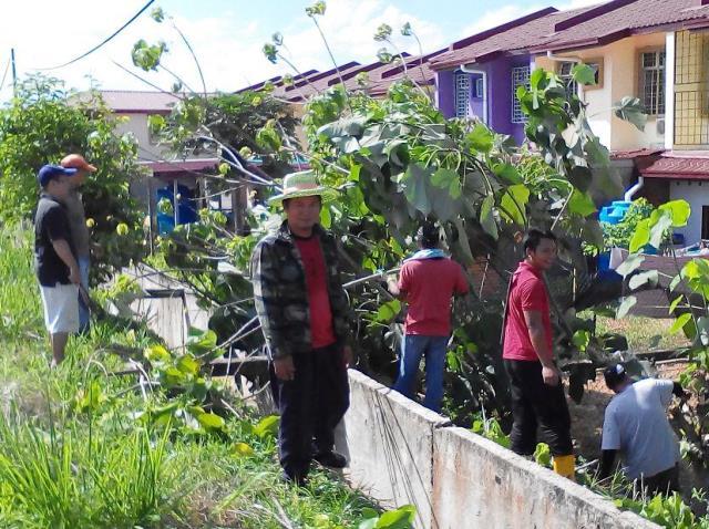 Gotong-royong membersihkan kawasan KRT Tmn Tropicana -28feb2015 Photo_53