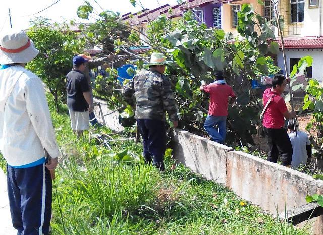 Gotong-royong membersihkan kawasan KRT Tmn Tropicana -28feb2015 Photo_54