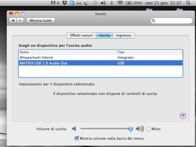 Matrix X-spdif, guasto misterioso Mac13