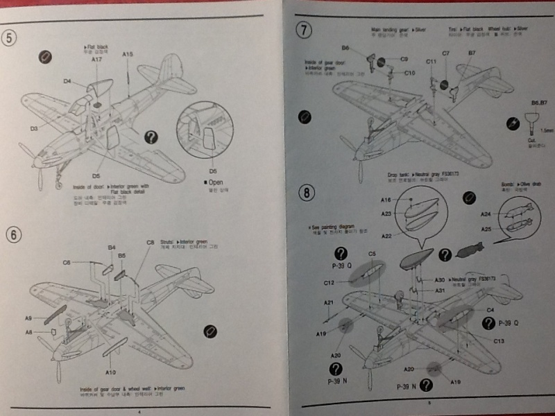 [ACADEMY] BELL P 39 Q/N 1/72ème Ref 2177 Academ23
