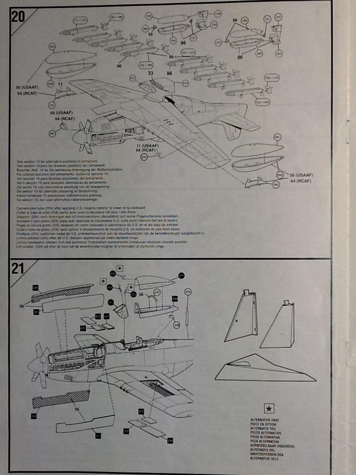 AIRFIX NORTH AMERICAN P 51 D MUSTANG 1/24ème Ref 14001 Airfi100