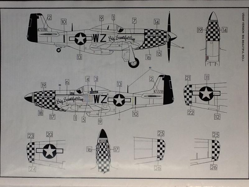AIRFIX NORTH AMERICAN P 51 D MUSTANG 1/24ème Ref 14001 Airfi102