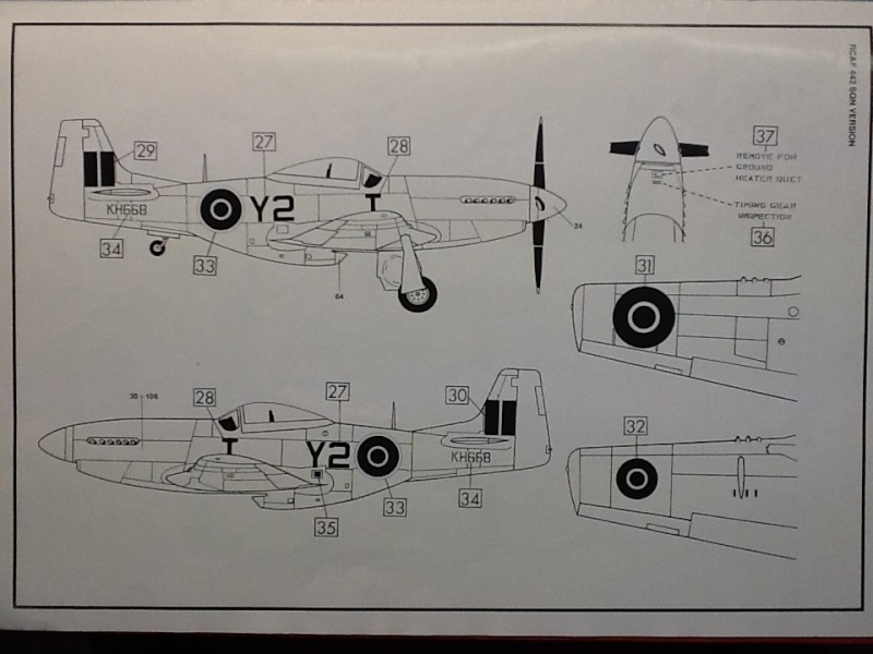 AIRFIX NORTH AMERICAN P 51 D MUSTANG 1/24ème Ref 14001 Airfi105