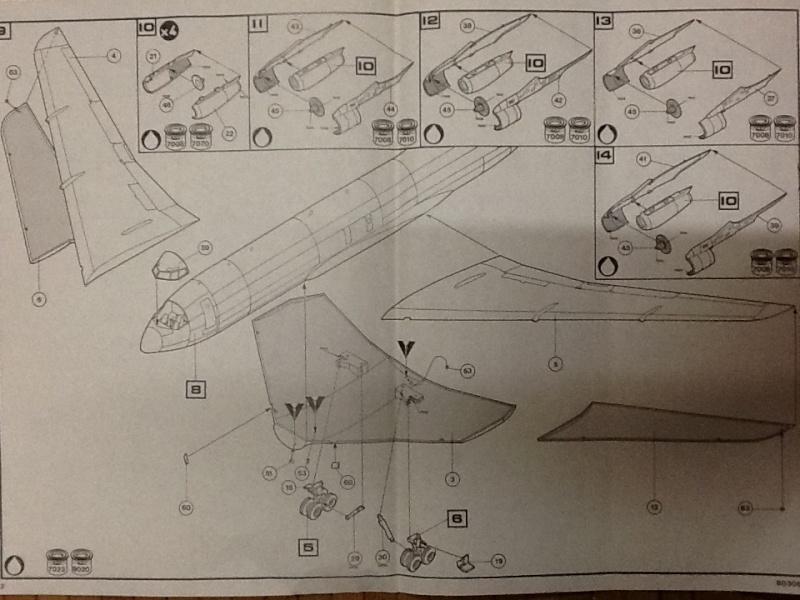 BOEING E 3A AWACS 1/72ème Réf 80306 Notice Helle101