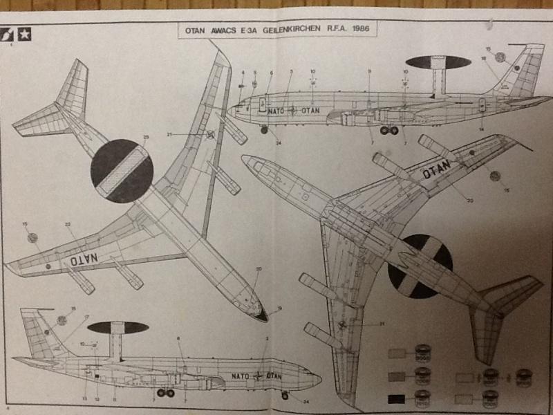 BOEING E 3A AWACS 1/72ème Réf 80306 Notice Helle103