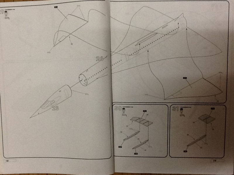 SUD AVIATION - BRITISH AIRCRAFT CORPORATION  CONCORDE 1/72ème Réf 52903 Notice Helle194