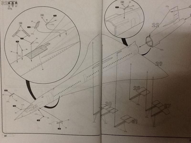 SUD AVIATION - BRITISH AIRCRAFT CORPORATION  CONCORDE 1/72ème Réf 52903 Notice Helle195