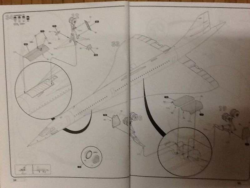 SUD AVIATION - BRITISH AIRCRAFT CORPORATION  CONCORDE 1/72ème Réf 52903 Notice Helle197