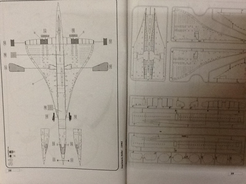 SUD AVIATION - BRITISH AIRCRAFT CORPORATION  CONCORDE 1/72ème Réf 52903 Notice Helle199