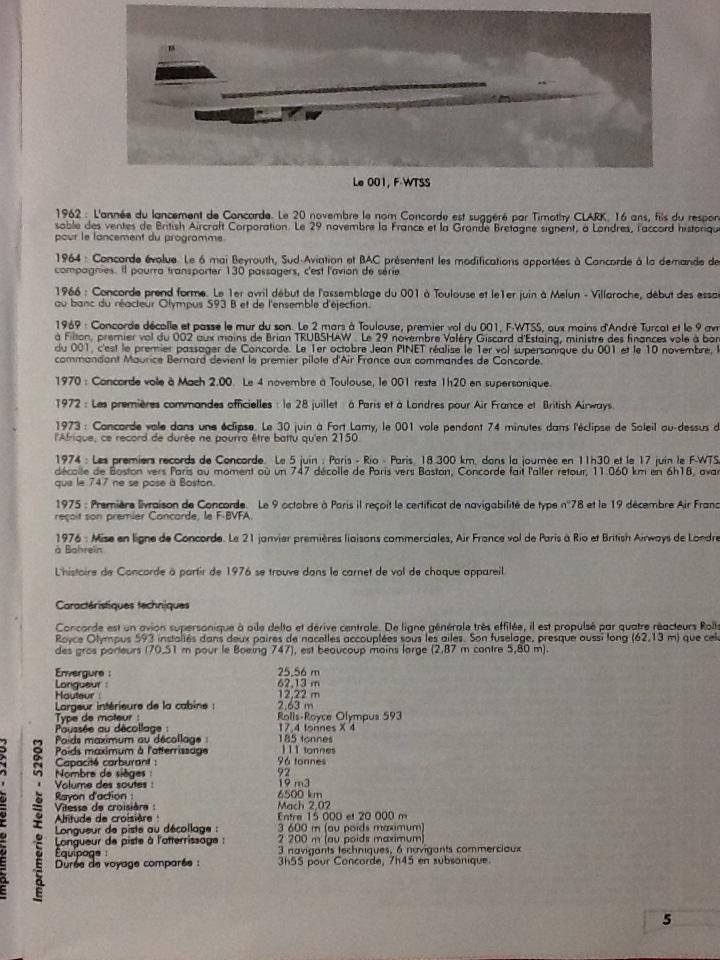 SUD AVIATION - BRITISH AIRCRAFT CORPORATION  CONCORDE 1/72ème Réf 52903 Notice Helle208