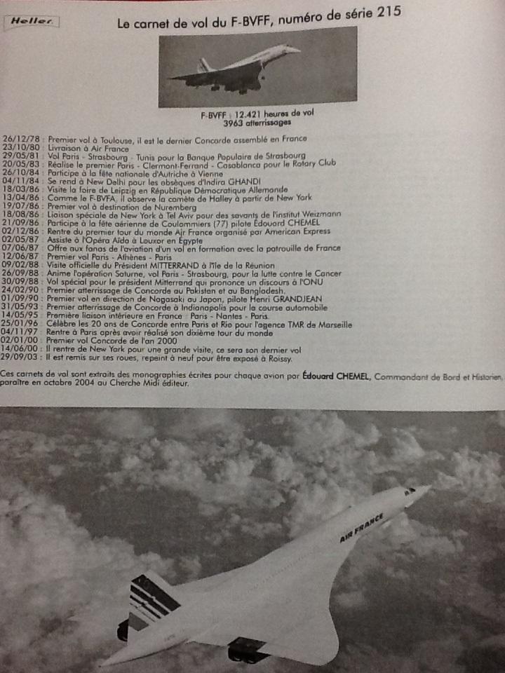 SUD AVIATION - BRITISH AIRCRAFT CORPORATION  CONCORDE 1/72ème Réf 52903 Notice Helle211