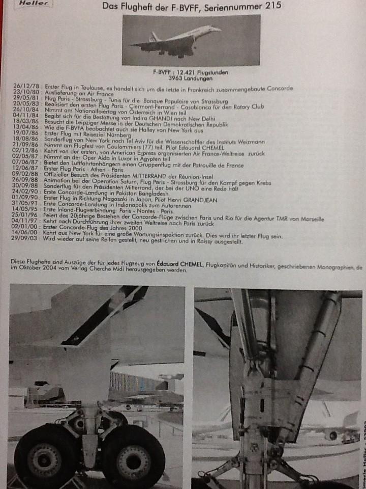 SUD AVIATION - BRITISH AIRCRAFT CORPORATION  CONCORDE 1/72ème Réf 52903 Notice Helle219